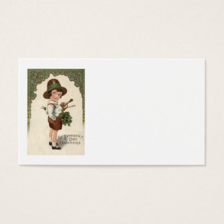 Girl Shamrock Violin St Patrick's Day Business Card