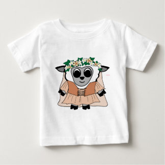 Girl Sheep in Renaissance Dress T-shirts