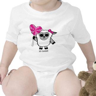 Girl Sheep with Heart Lollipop Shirts