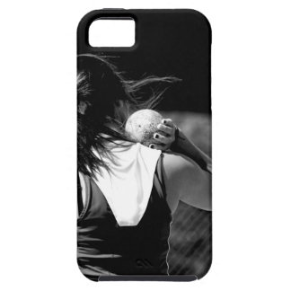Girl Shotput thrower iPhone 5 Covers