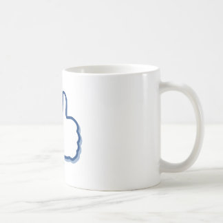 girl showing thumb picture classic white coffee mug