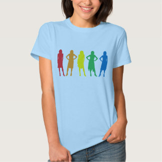 Girl silhouettes t shirts