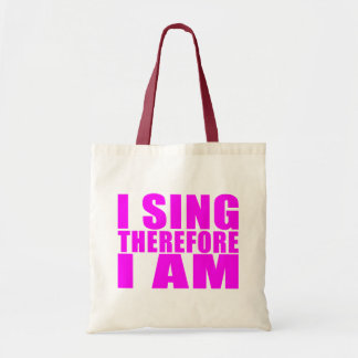 Girl Singers : I Sing Therefore I Am Tote Bag