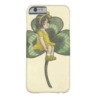 Girl Sitting On Shamrock Barely There iPhone 6 Case