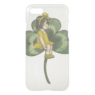 Girl Sitting On Shamrock iPhone 7 Case