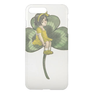 Girl Sitting On Shamrock iPhone 7 Plus Case