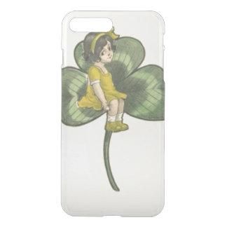 Girl Sitting On Shamrock iPhone 7 Plus Case