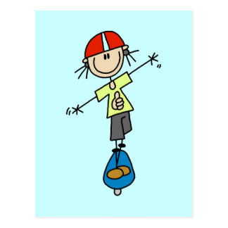 Girl Skateboarder Tshirts and Gifts Postcard