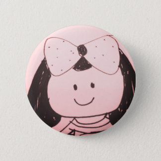 Girl sketch 6 cm round badge