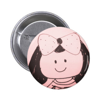 Girl sketch 6 cm round badge