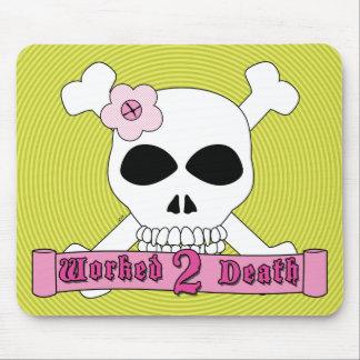 Girl Skull and Crossbones Mousepad