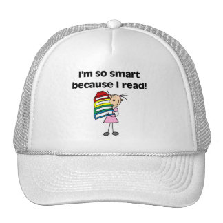 Girl Smart Because I Read Tshirts and Gifts Mesh Hats