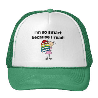 Girl Smart Because I Read Tshirts and Gifts Trucker Hat