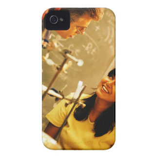 Girl smiling at teacher in chemistry lab Case-Mate iPhone 4 case