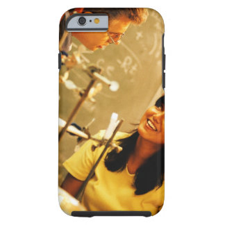 Girl smiling at teacher in chemistry lab tough iPhone 6 case