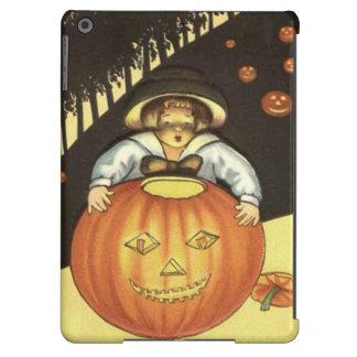 Girl Smiling Jack O' Lantern Pumpkin iPad Air Covers