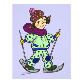 Girl Snow Skiing 2 21.5 Cm X 28 Cm Flyer
