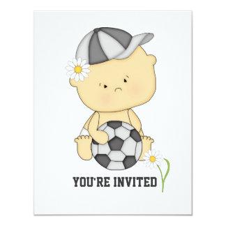 Girl Soccer Baby Shower Invitation