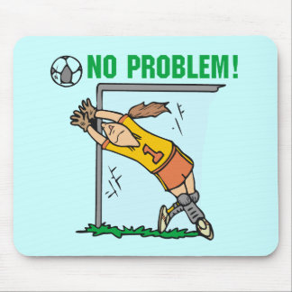Girl Soccer Goalie T-shirts and Gifts Mouse Mat
