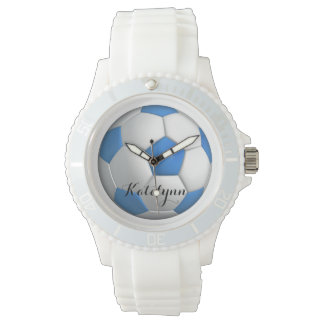 Girl Soccer Player Blue With Name Watch