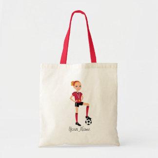 Girl Soccer Player Custom Bags