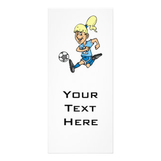 girl soccer player graphic customised rack card