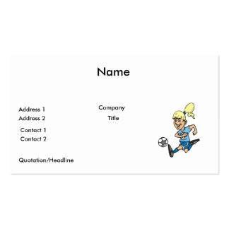 girl soccer player graphic pack of standard business cards