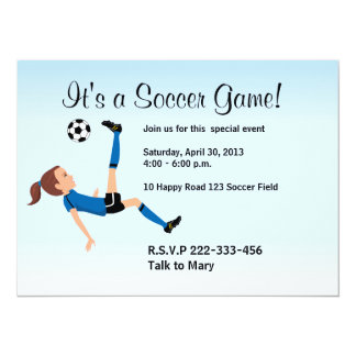 Girl Soccer Player Invitation