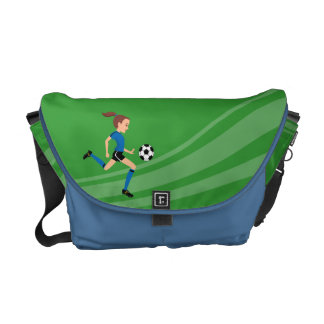 Girl Soccer Player Practice Bag Courier Bag