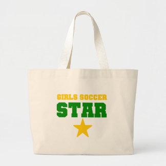 Girl Soccer Star Canvas Bags
