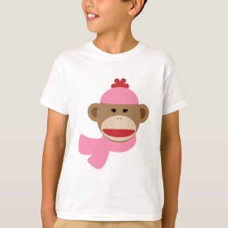 girl sock monkey T-Shirt