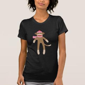 girl sock monkey tee shirt