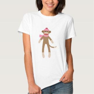 girl sock monkey tees