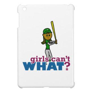 Girl Softball Player in Green iPad Mini Cover