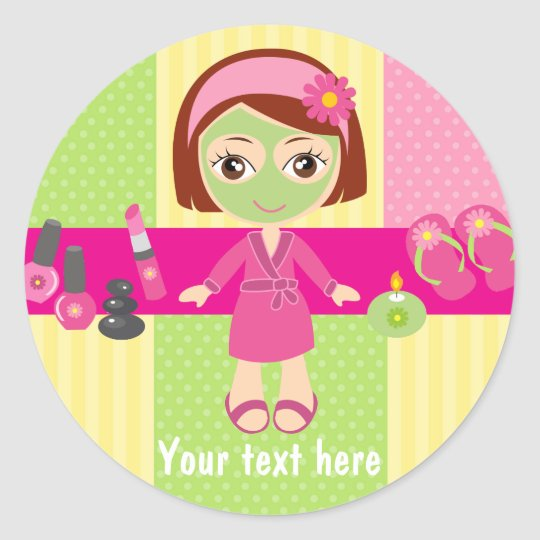 Girl Spa Birthday Party Guest Favour Classic Round