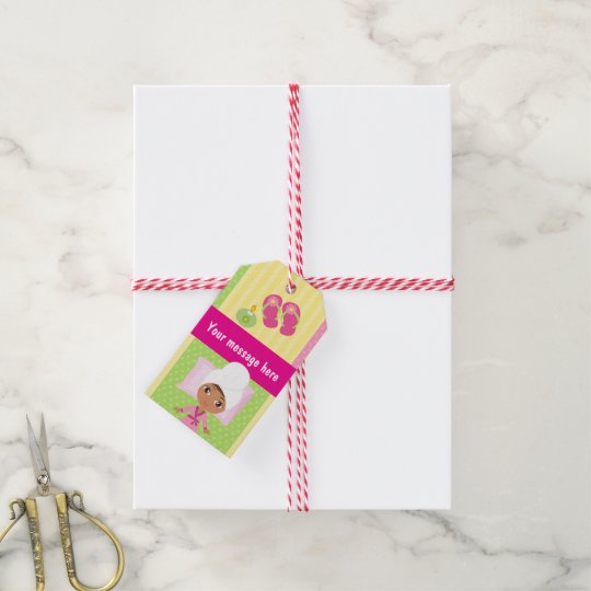 Girl Spa Birthday Party Guest Favour Gift Tags