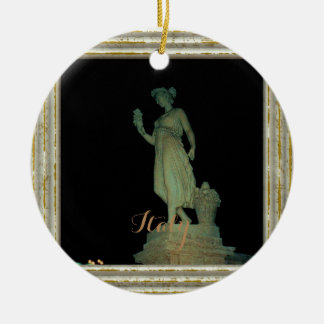 Girl Statue In Italy Christmas Ornament
