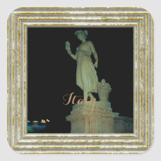 Girl Statue In Italy Square Sticker