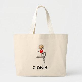 Girl Stick Figure Diver Bag