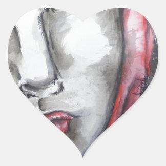 Girl Heart Sticker