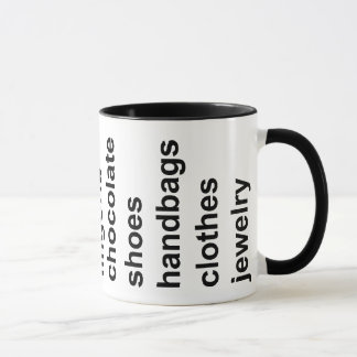 Girl Stuff Black Mug