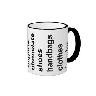 Girl Stuff Black Coffee Mugs