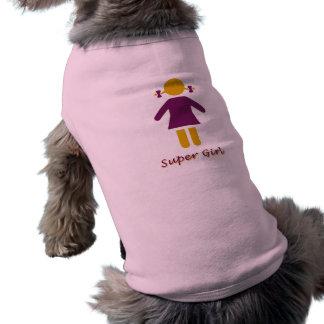 Girl - Super Girl Sleeveless Dog Shirt