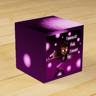 """Girl Super Hero Birthday Favor Box 2 x 2"" Wedding Favour Boxes"