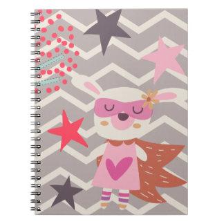 Girl Superhero Bunny Notebooks