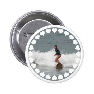 Girl Surfing Button