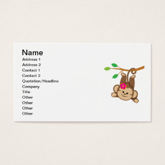 Girl Swinging Monkey Business Card