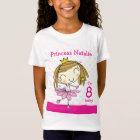 GIRL T-SHIRT Age 8 cute pink princess 8th Birthday