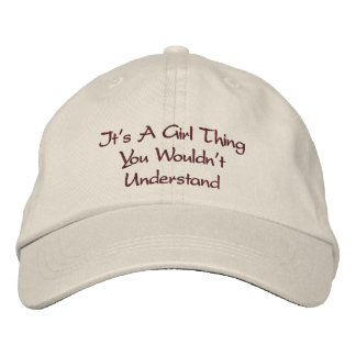 Girl Talk Embroidered Baseball Cap