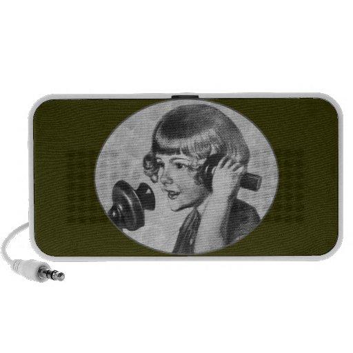 Girl Talk Vintage 1920s Telephone On Doodle Speaker System
